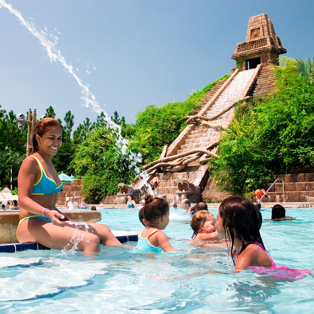 Experience water parks at Disney's resorts