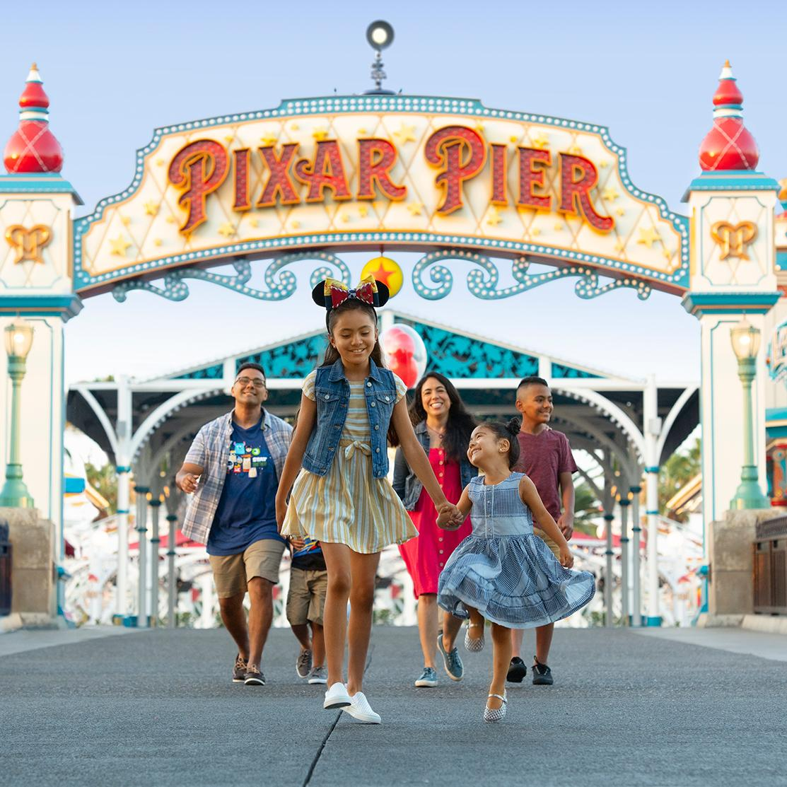Stroll down the Pixar Pier with family at Disney's resorts