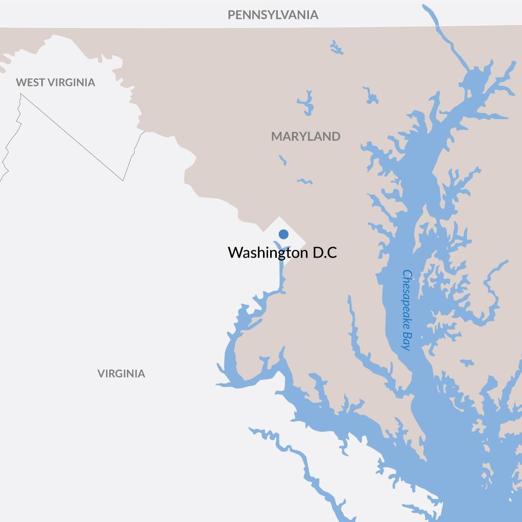 Washington D.C. vacations map
