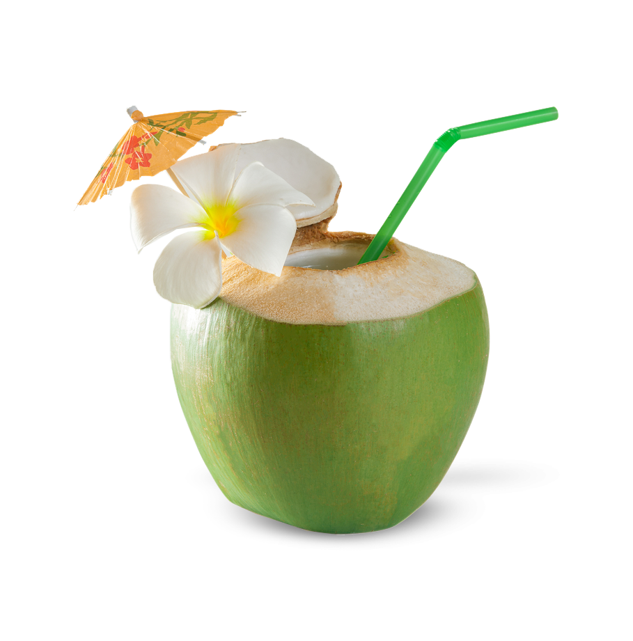 Drinking rum from a coconut in the West Coast of Barbados