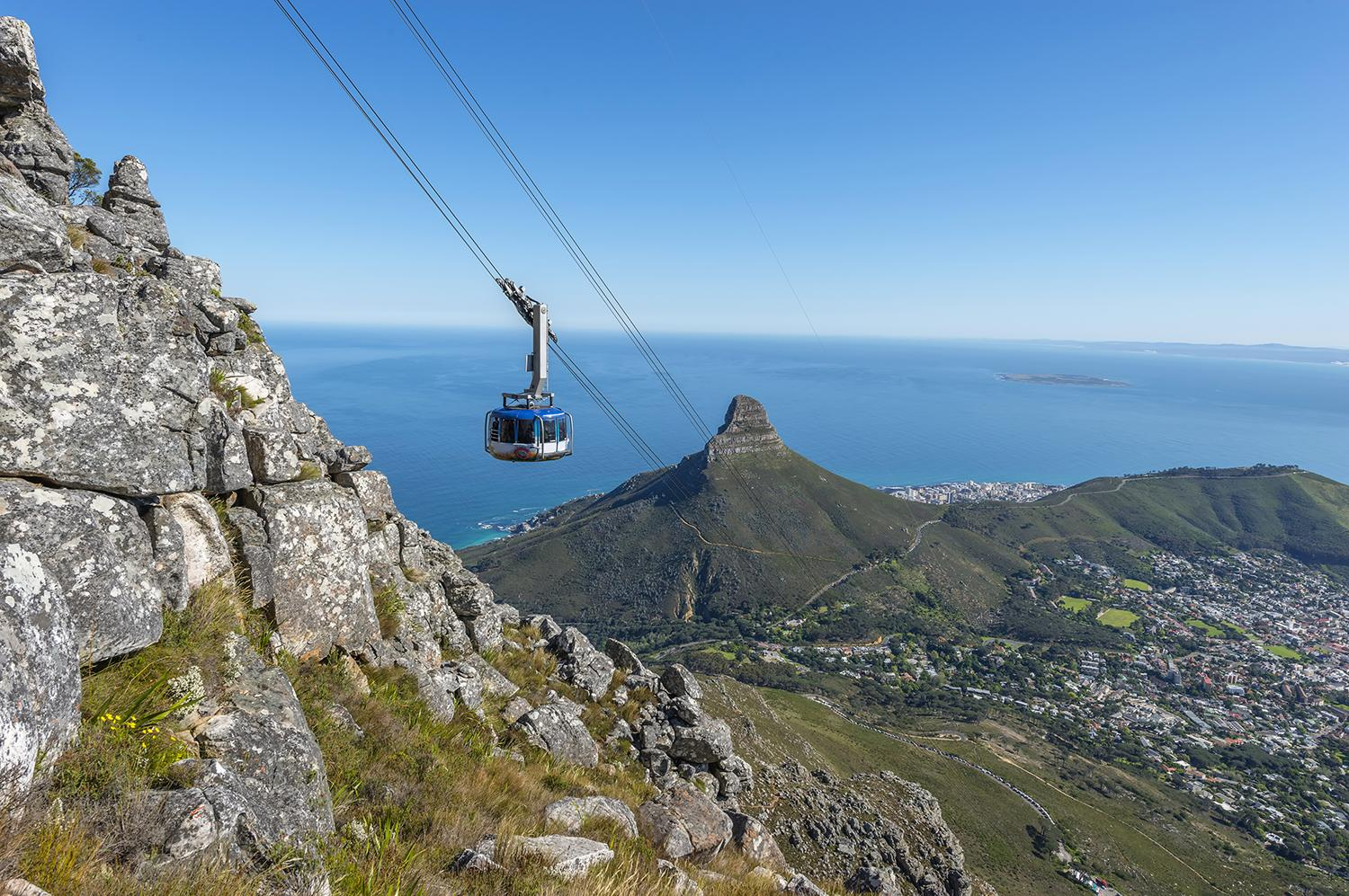 Cable cars in Western Cape South Africa