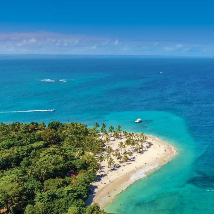 aerial shoreline views of the Dominican Republic