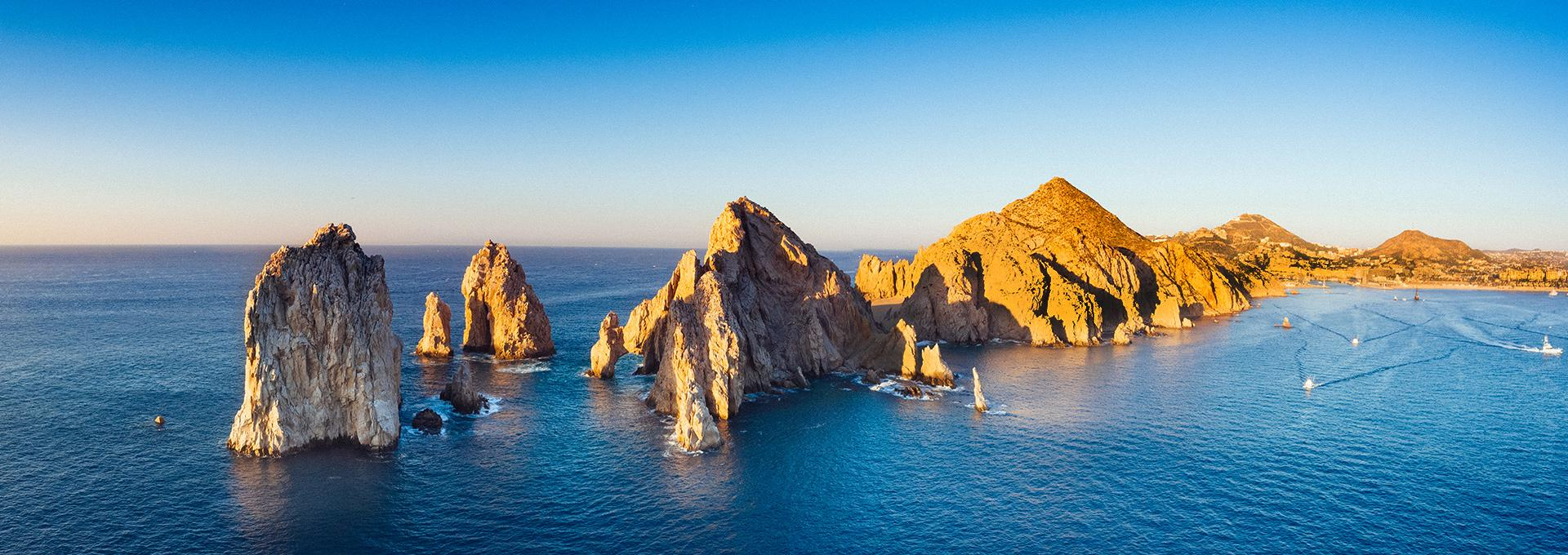 aerial view of the Arch in Los Cabos