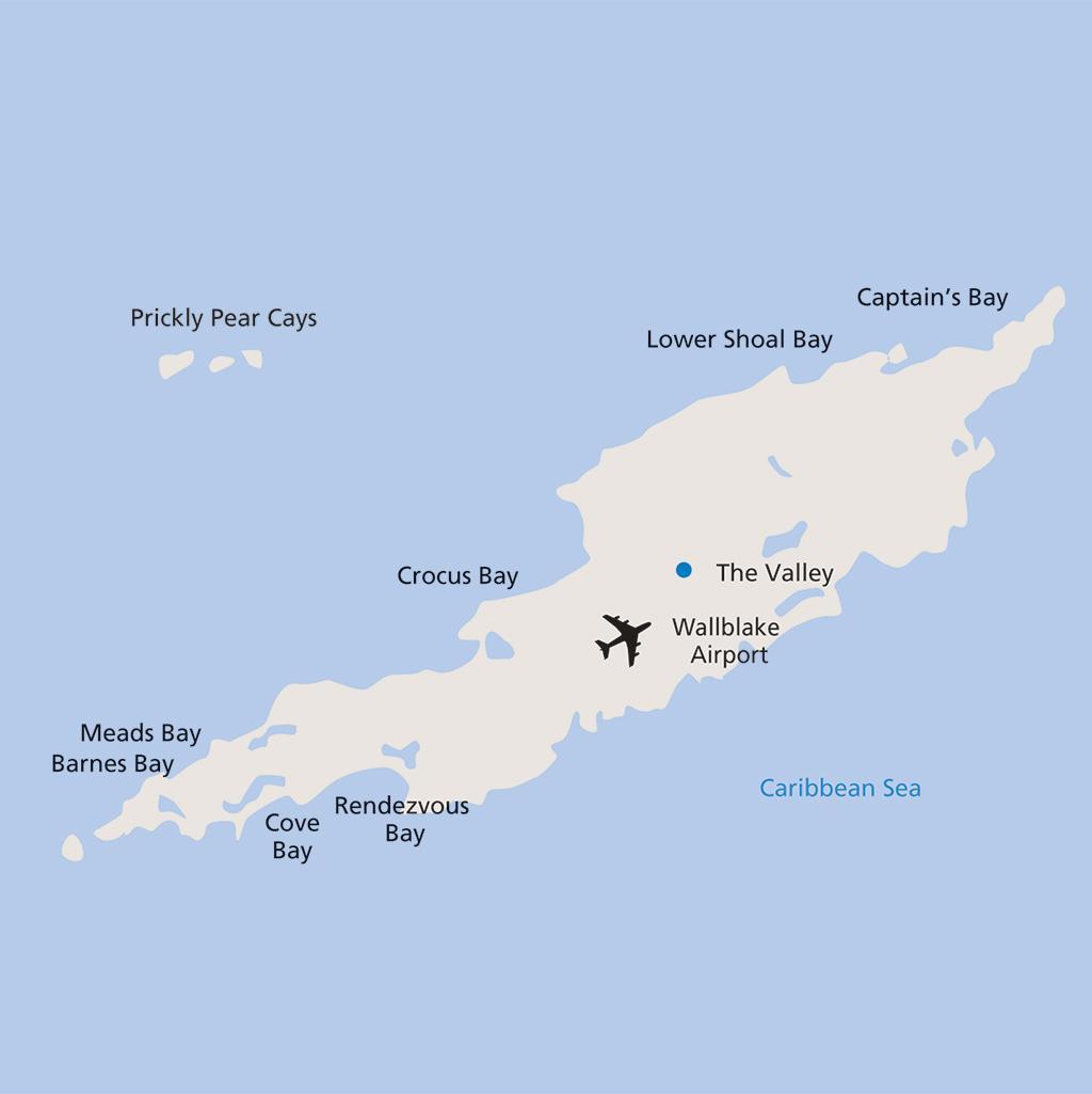 Anguilla vacation map