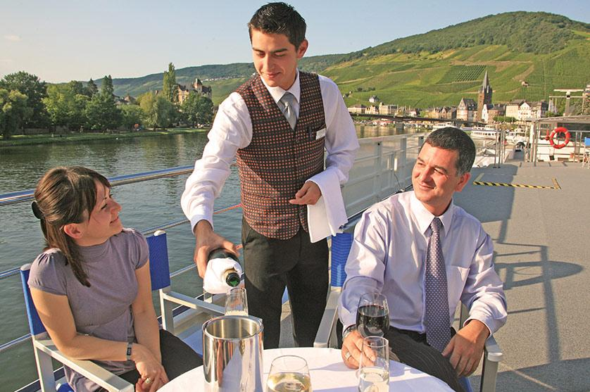 Sip some wine aboard an Avalon Waterways Cruise and drink in the finer views of the world