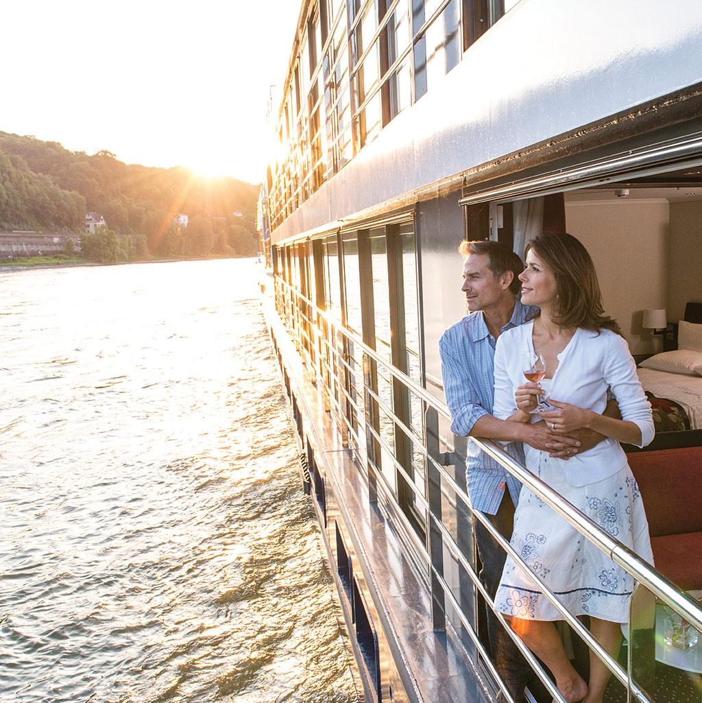 Enjoy the view of the new lands you'll soon explore aboard an Avalon Waterways Cruise