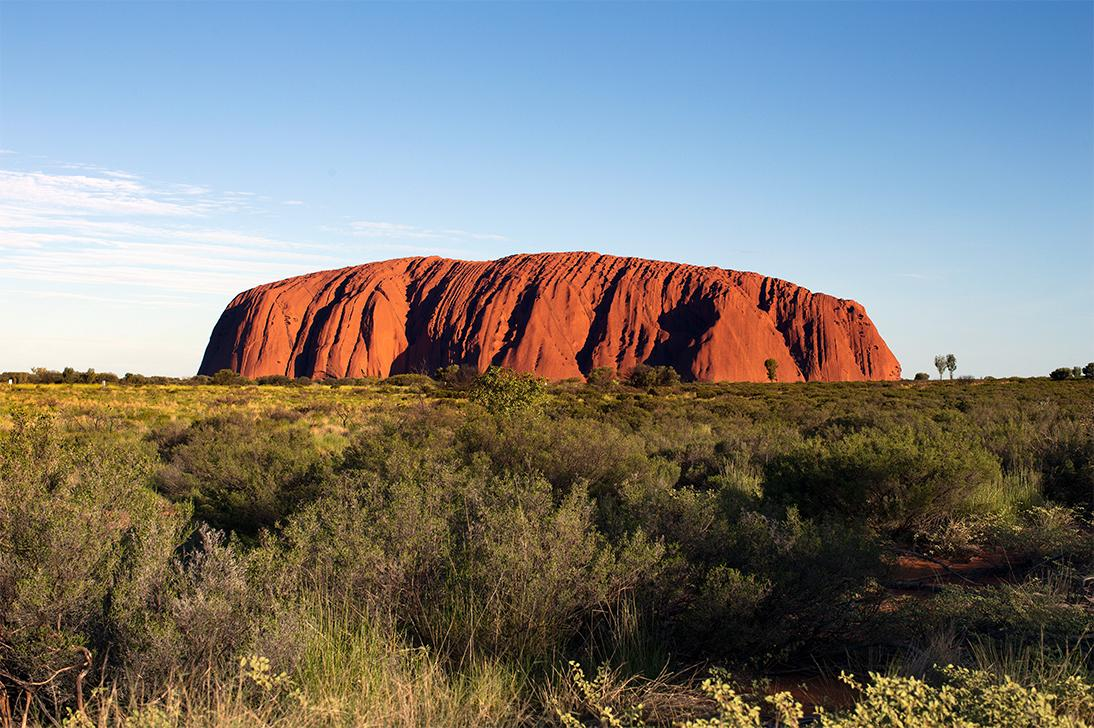 Views of Ayers Rock in the Australian outback