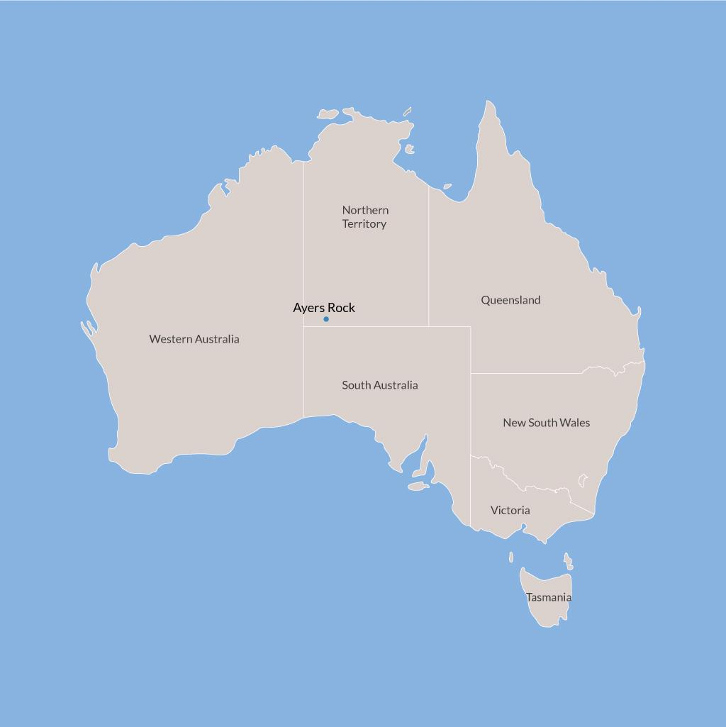 Ayers Rock vacations map
