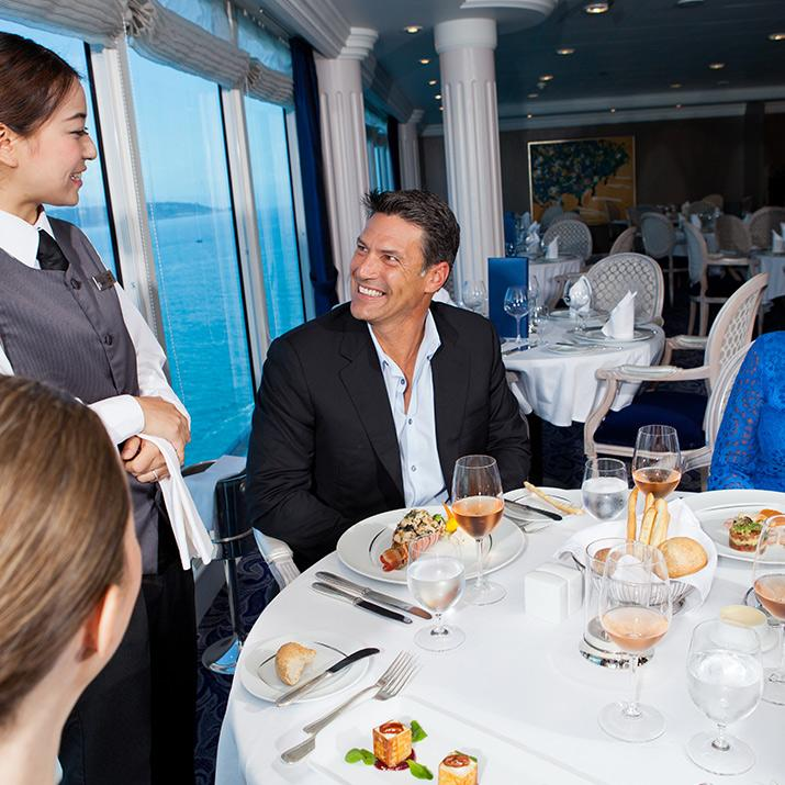 Enjoy some great food and wine aboard an Azamara Club Cruise. Bring yourself, Azamara will take care of the rest.