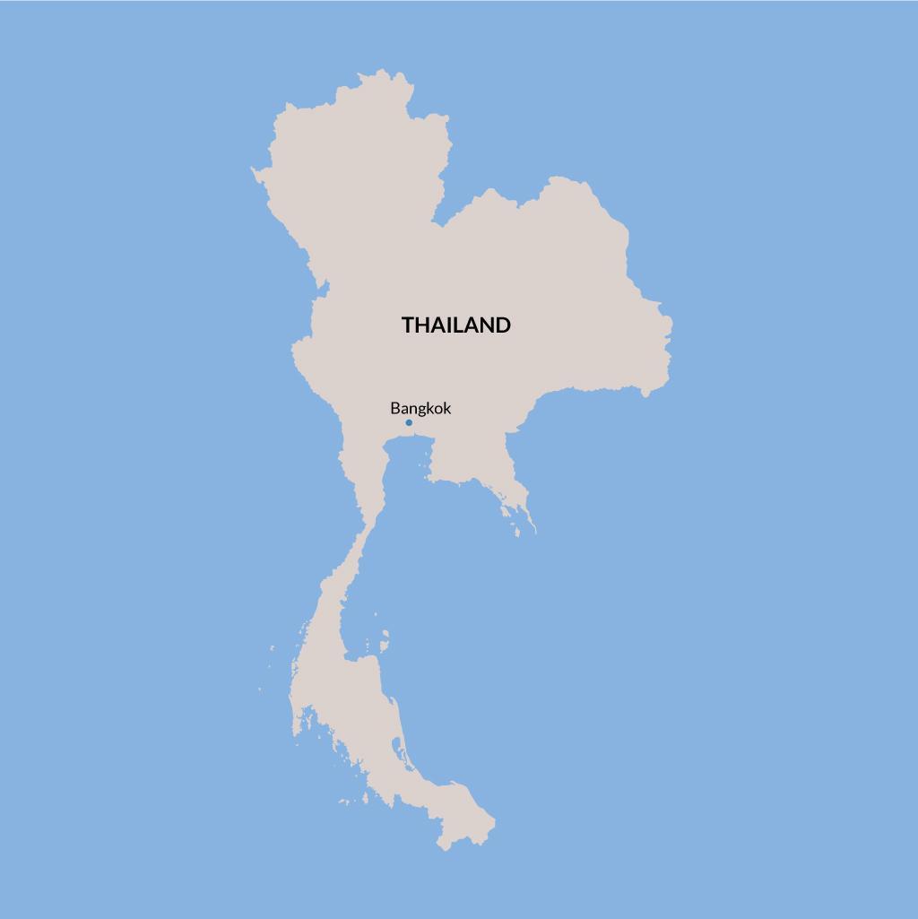 Bangkok vacation map