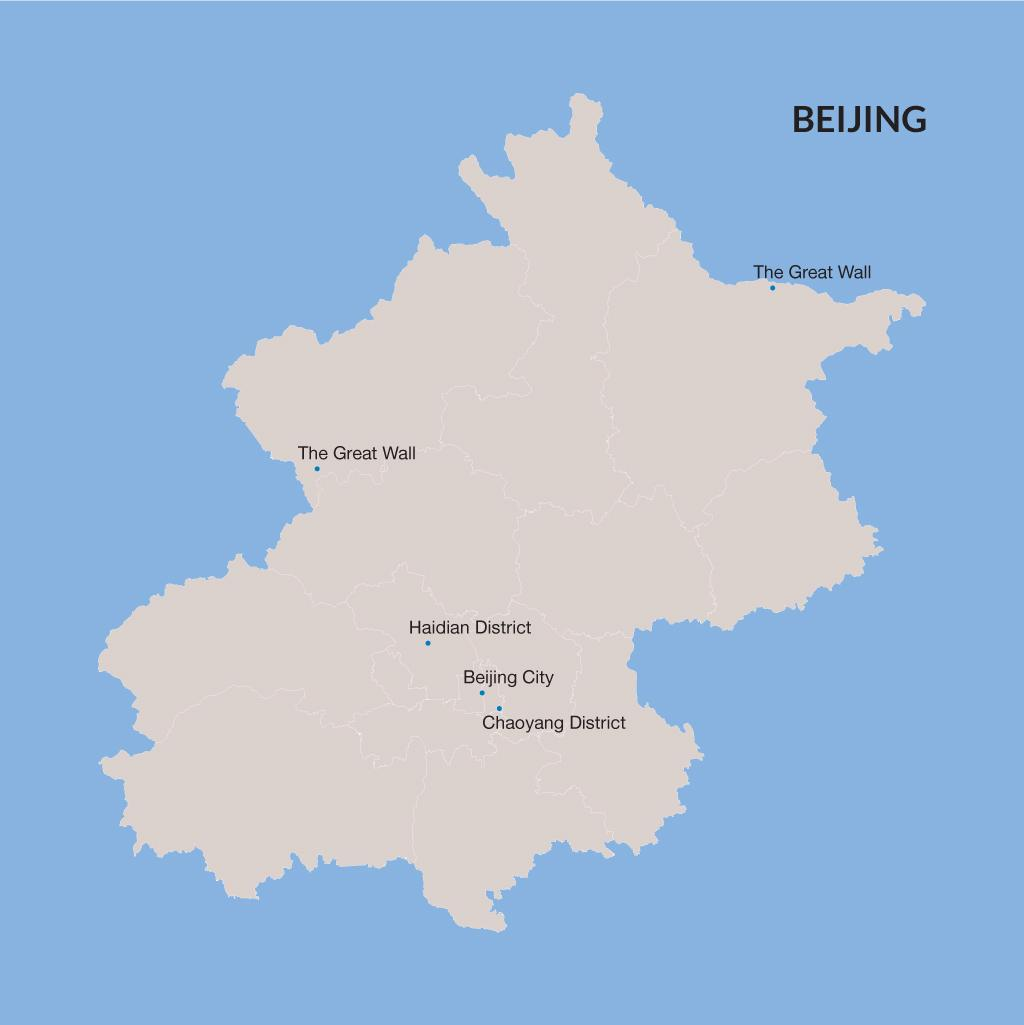 Beijing vacation map