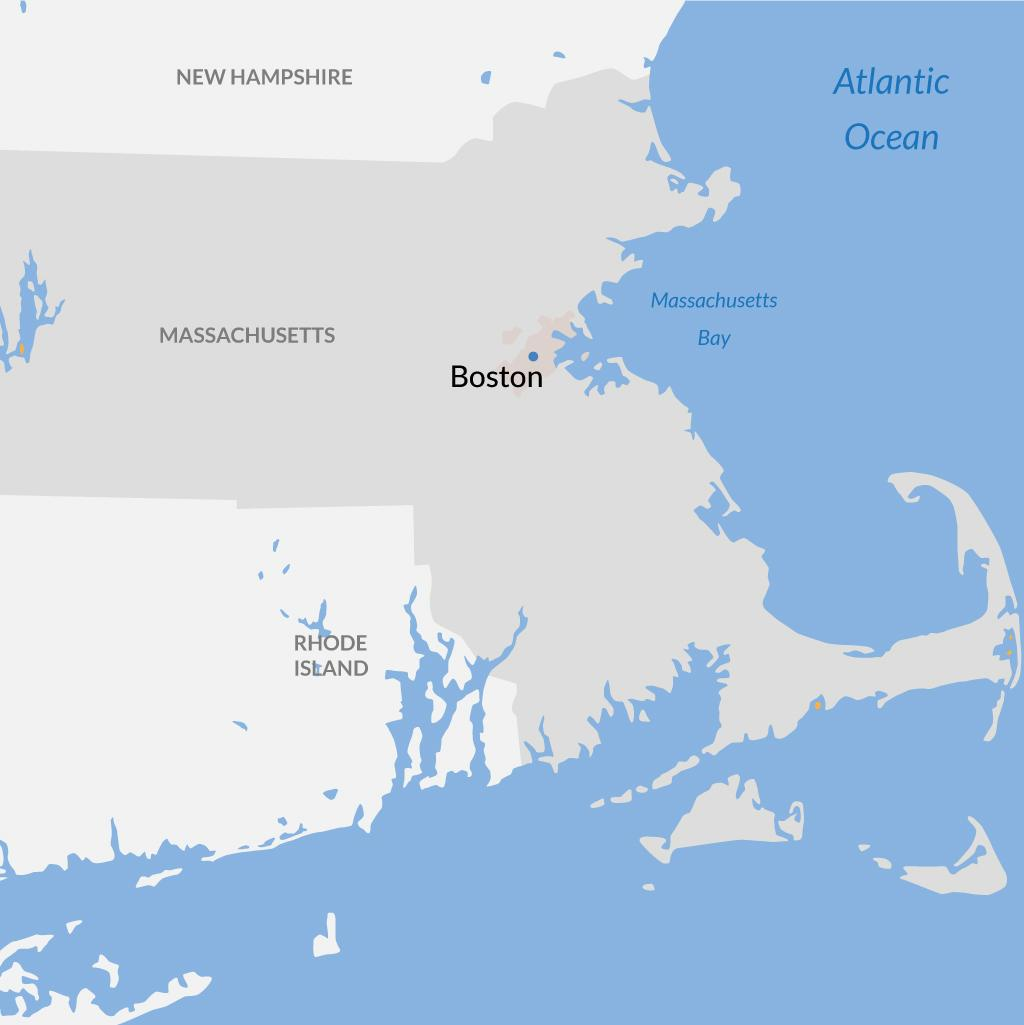 Boston vacations map