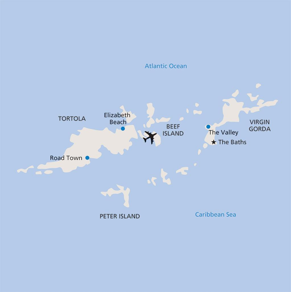 British Virgin Islands vacation map