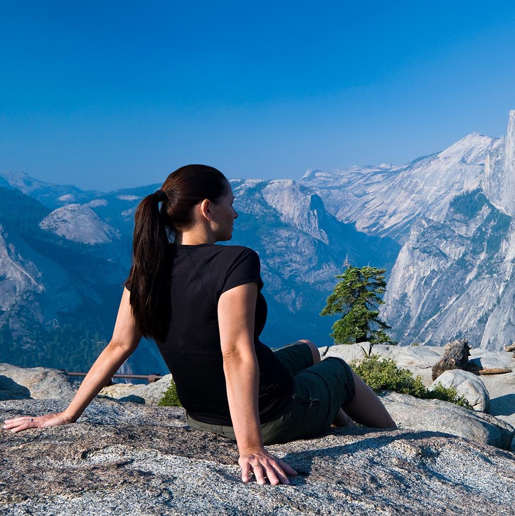 Hiking in Yosemite National Park in California