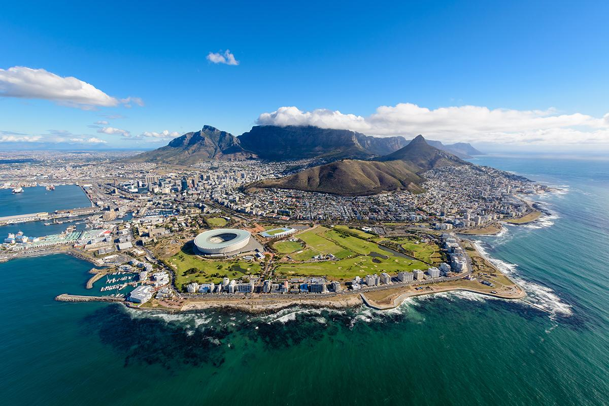 Views of the tip of Cape Town South Africa