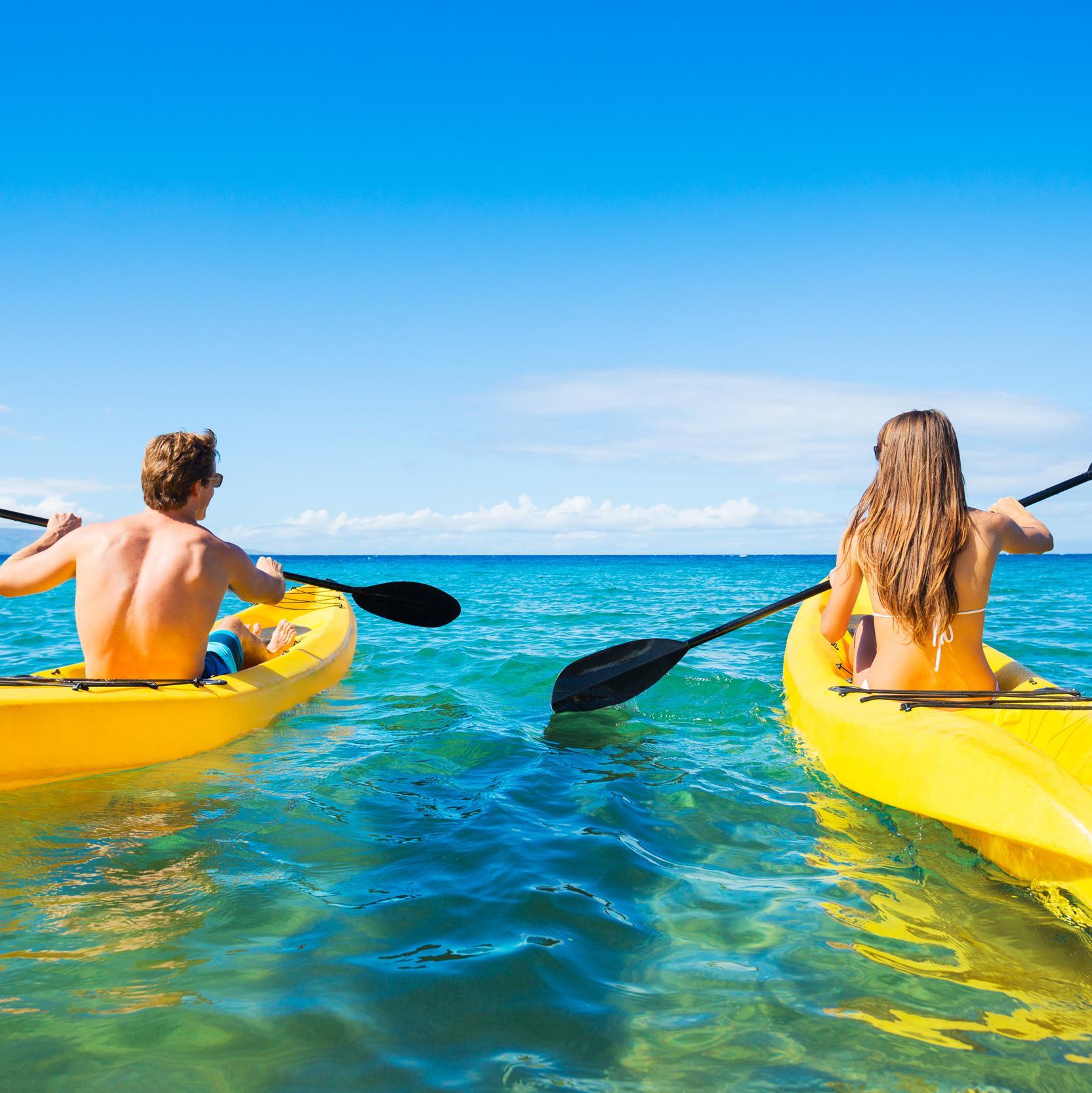 Kayaking awaits on your Caribbean vacation