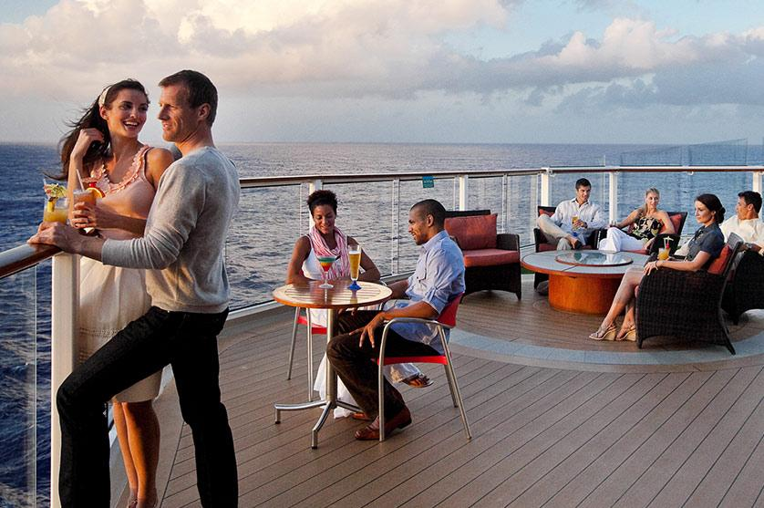 Relax and drink in the ocean views aboard a Celebrity Cruise line ship