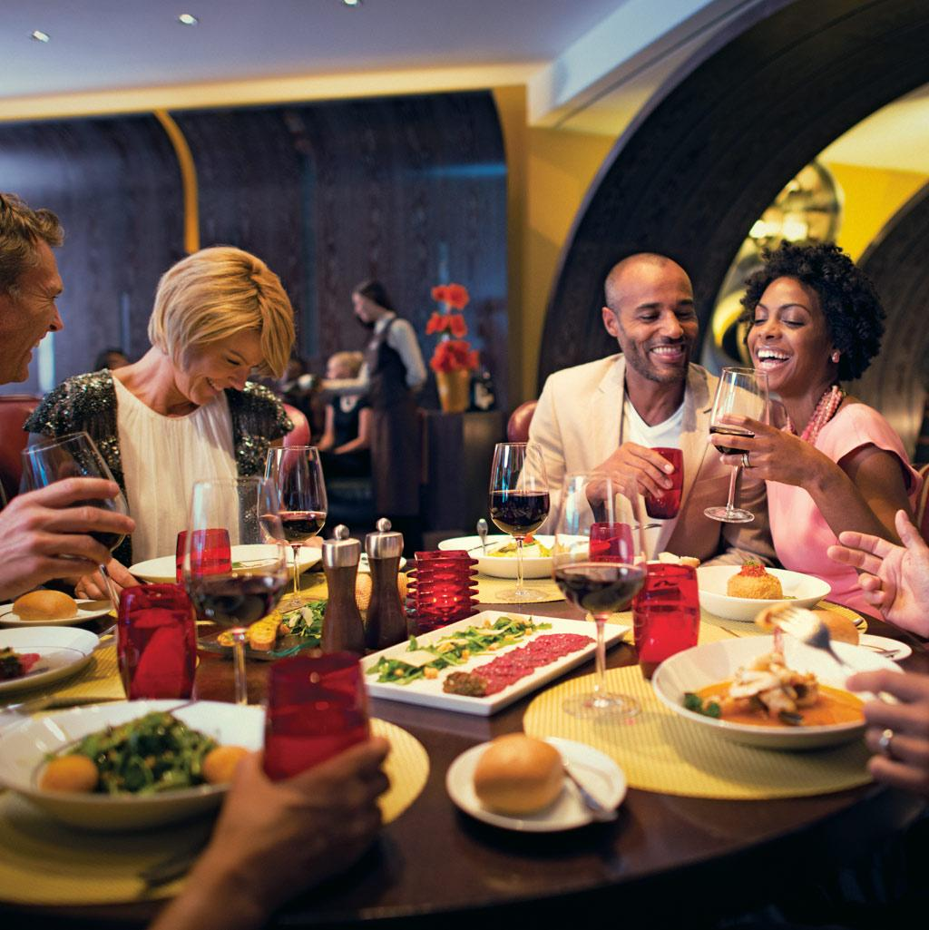 Enjoy a meal with old friends or the new friends you haven't met yet