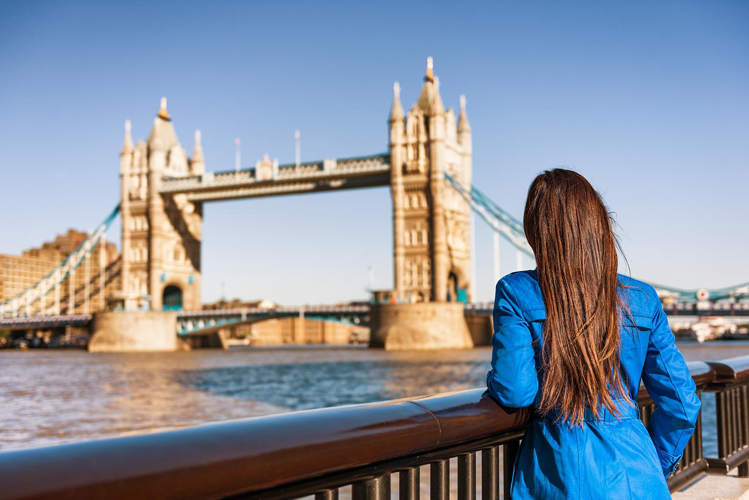 Stroll by classic sights like the London Bridge with England tours and excursions