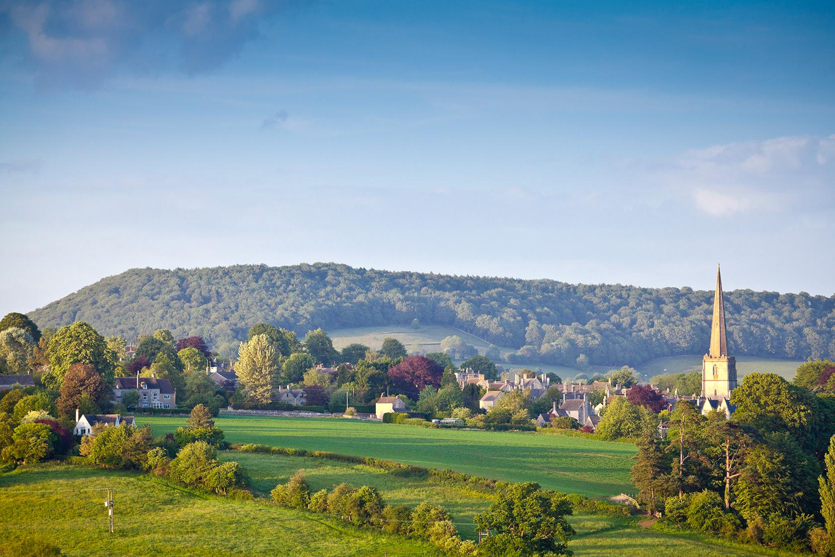 View of England's countryside on an England vacation package