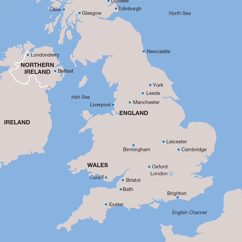 England vacation map