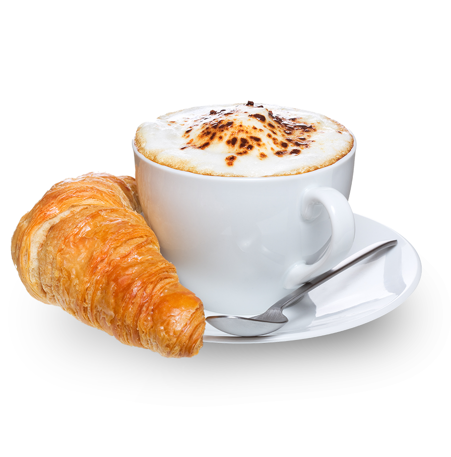 French Croissant and caffè