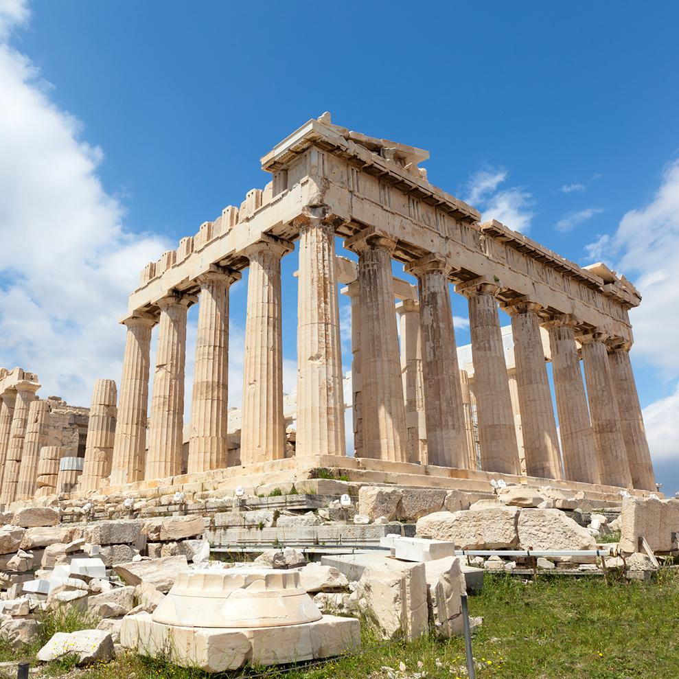 image of the Parthenon temple in Athens, Greece