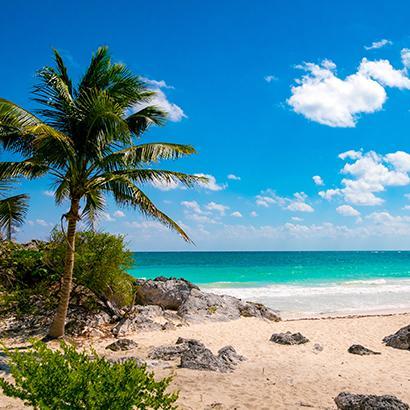 view of beach in Playa del carmen