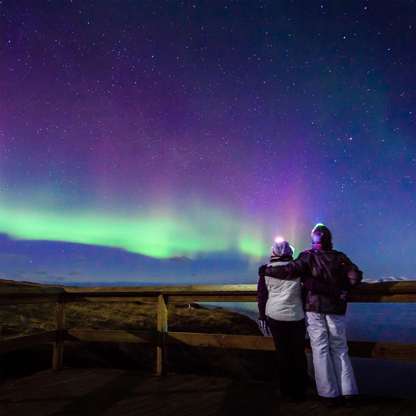 Experience the northern lights on Iceland vacations