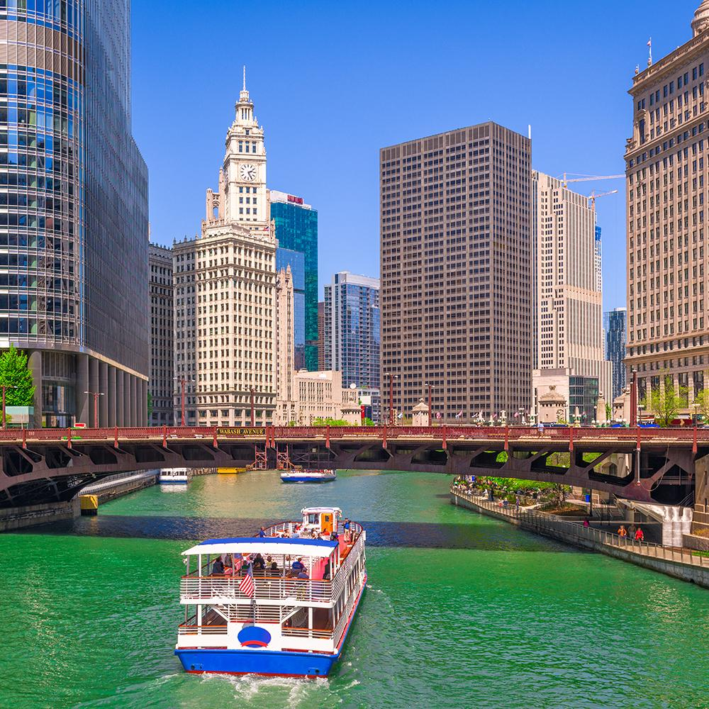 Cruising on the Chicago River