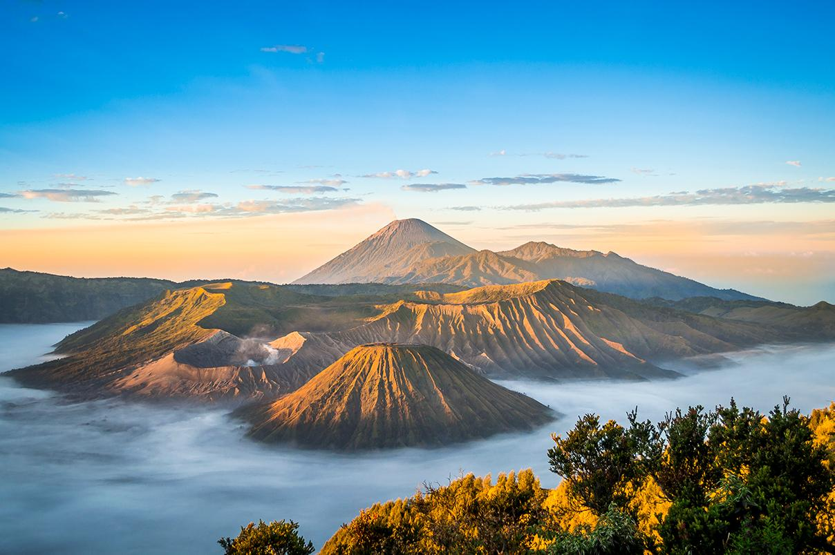 Stunning mountain views in Indonesia