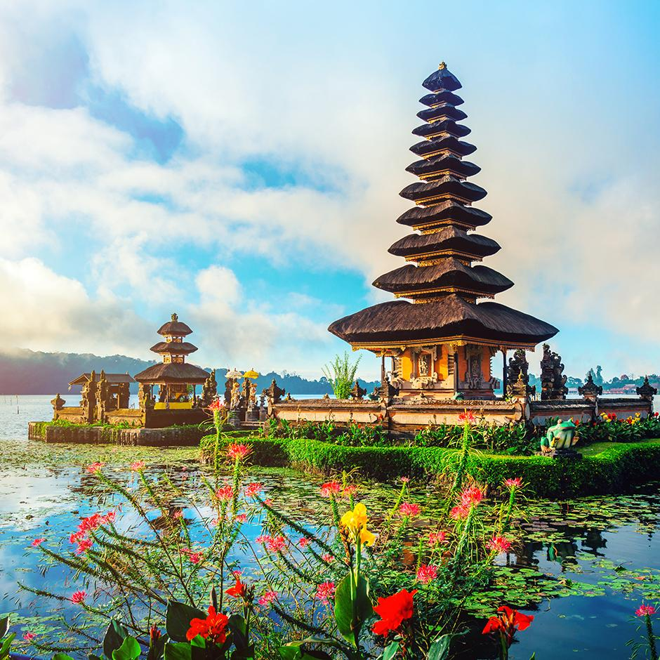 Pagodas in Bali, Indonesia