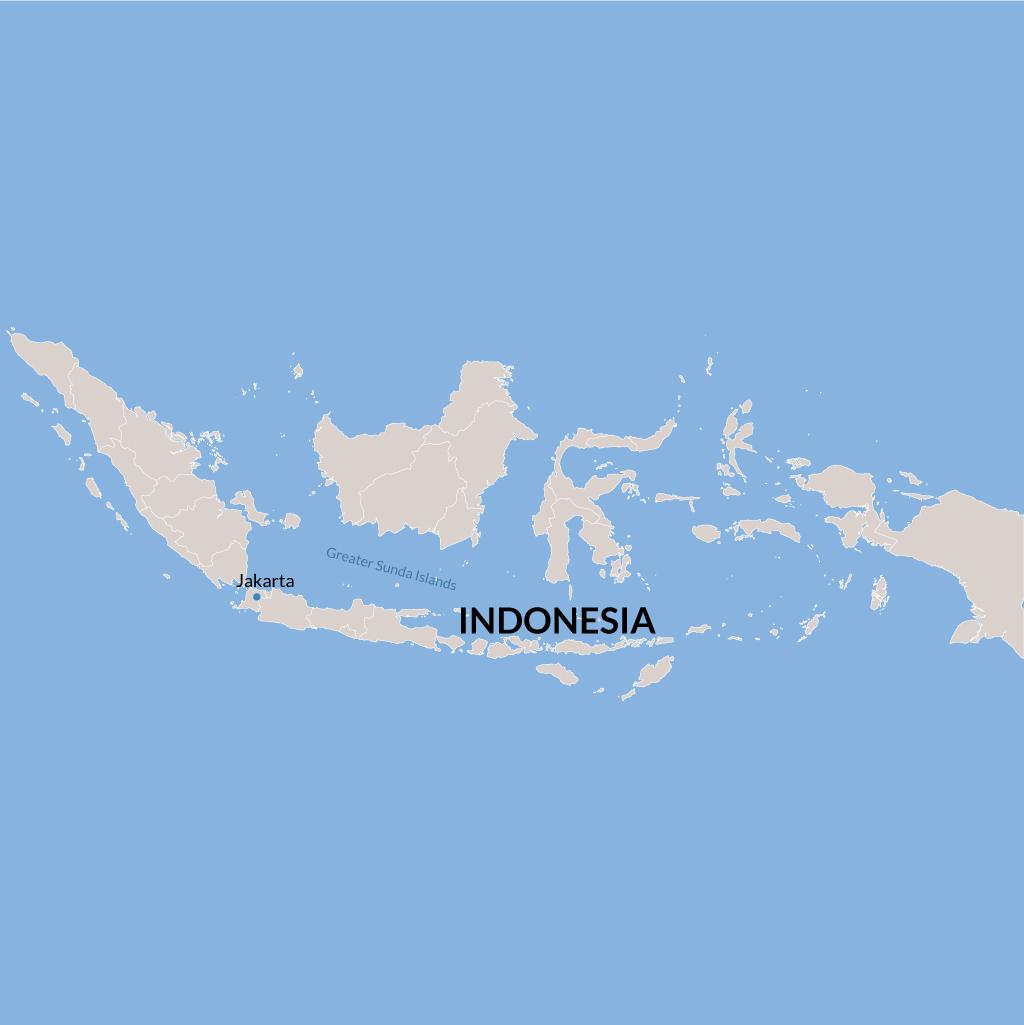 Indonesia vacation map