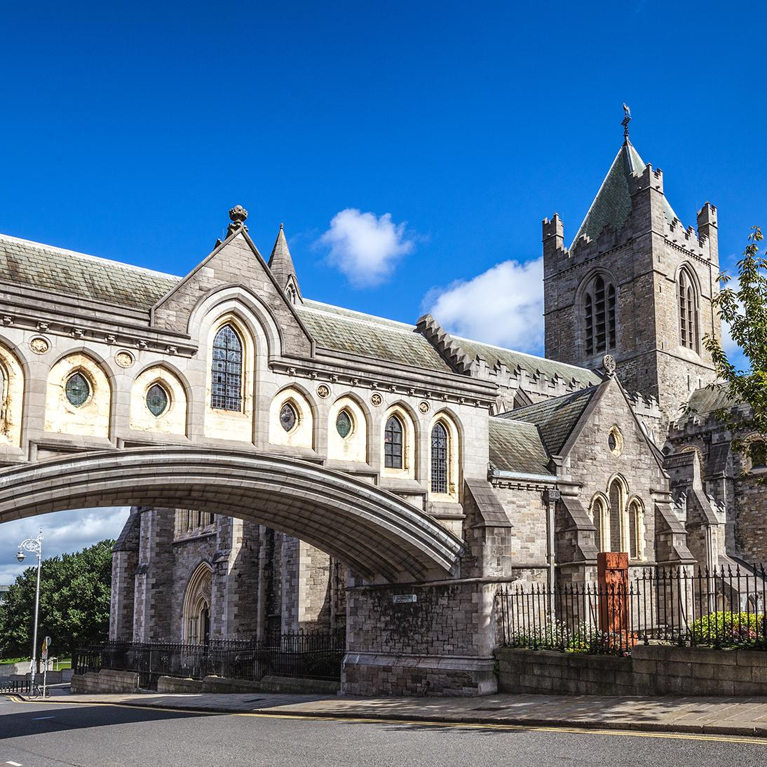 View of Christ Church Cathedral in Dublin on an Ireland vacation