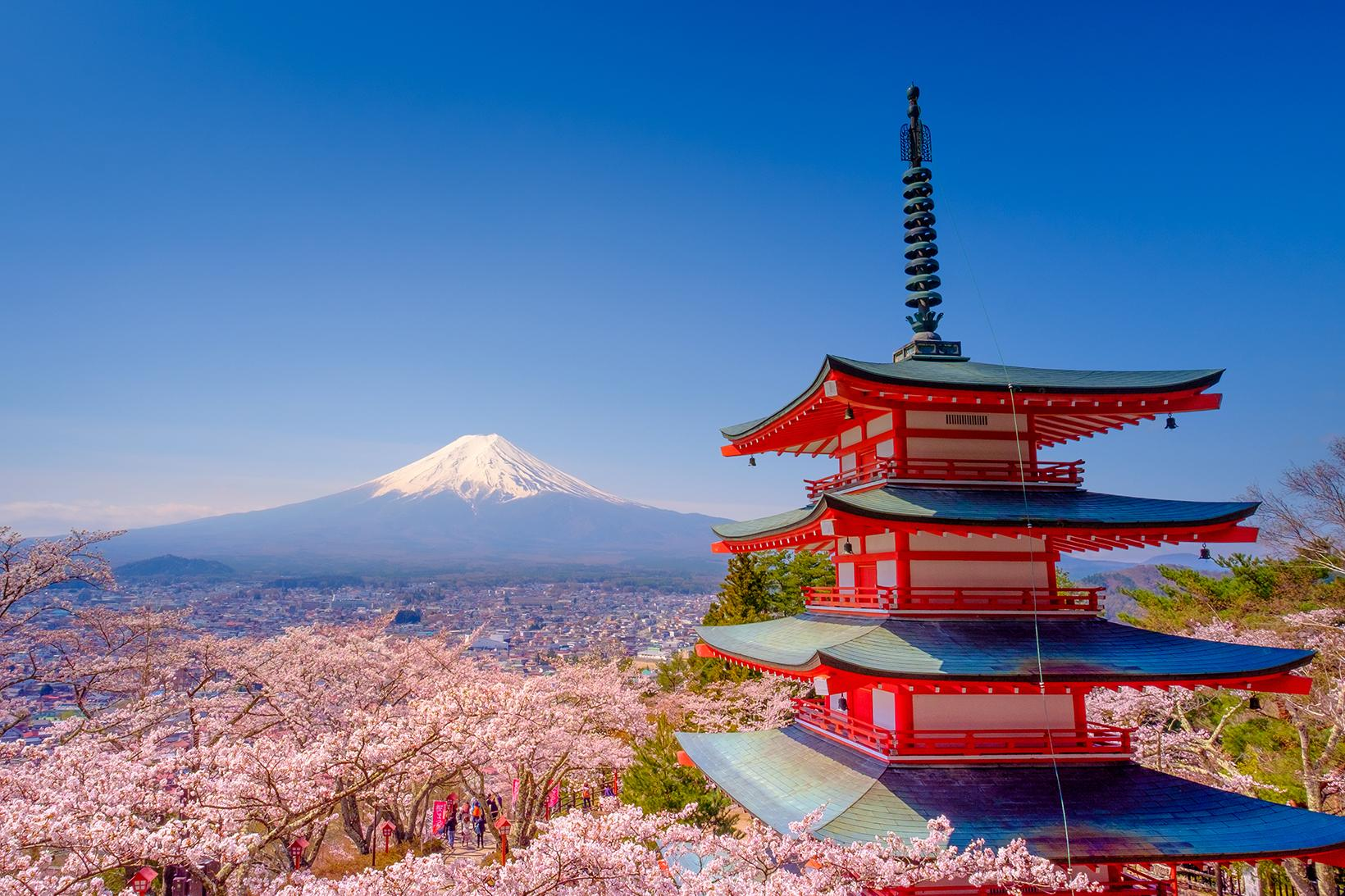 Experience views of Shinto temples and Mount Fiji with Japan vacation packages
