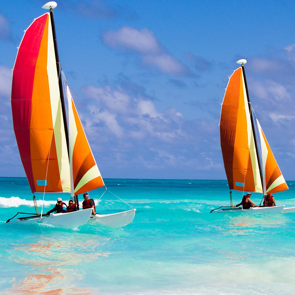 Hobie cat sailing in Key West Florida