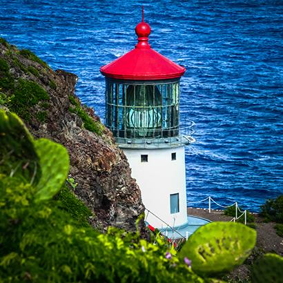 lighthouse overlooking the Pacific Ocean