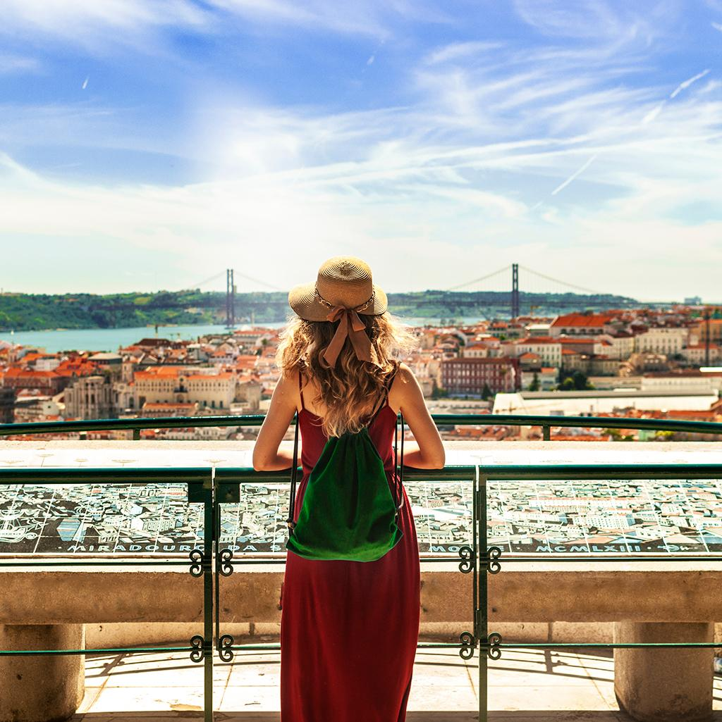 Views of Lisbon's town on Lisbon vacations