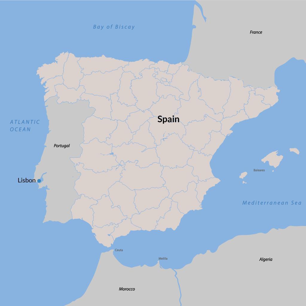 Lisbon vacations map
