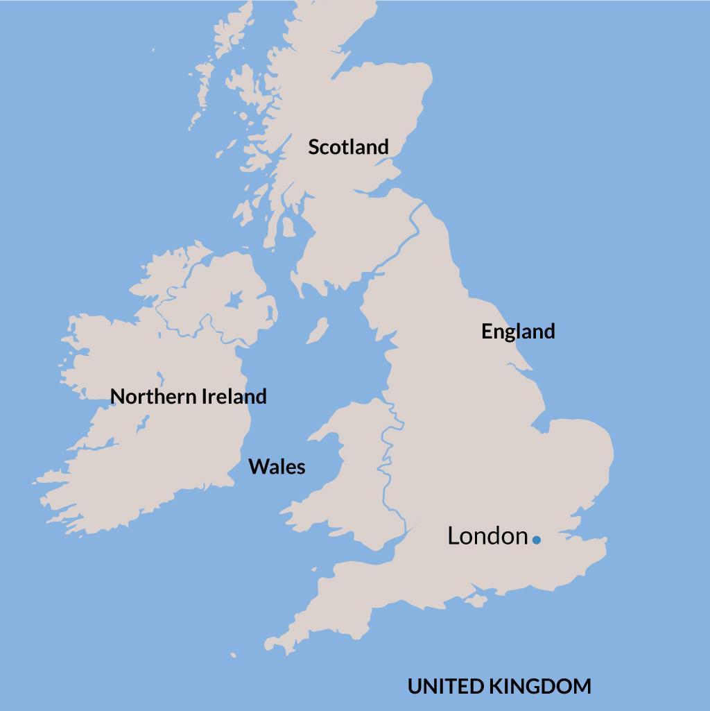 London vacations map