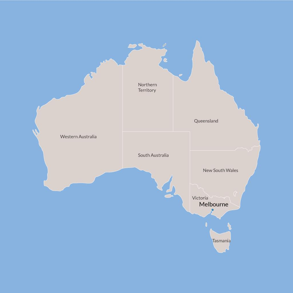 Melbourne vacations map