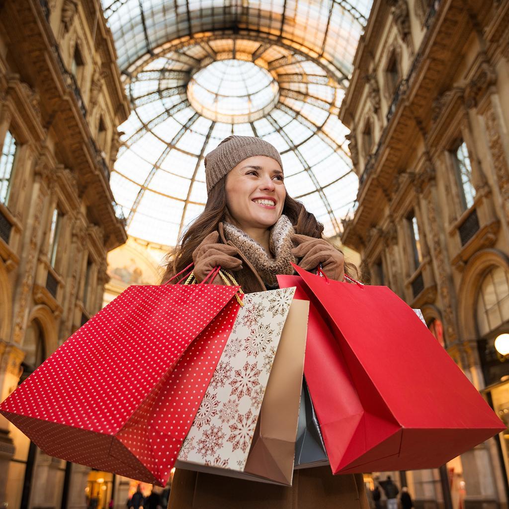 shopping in Milan's fashion district