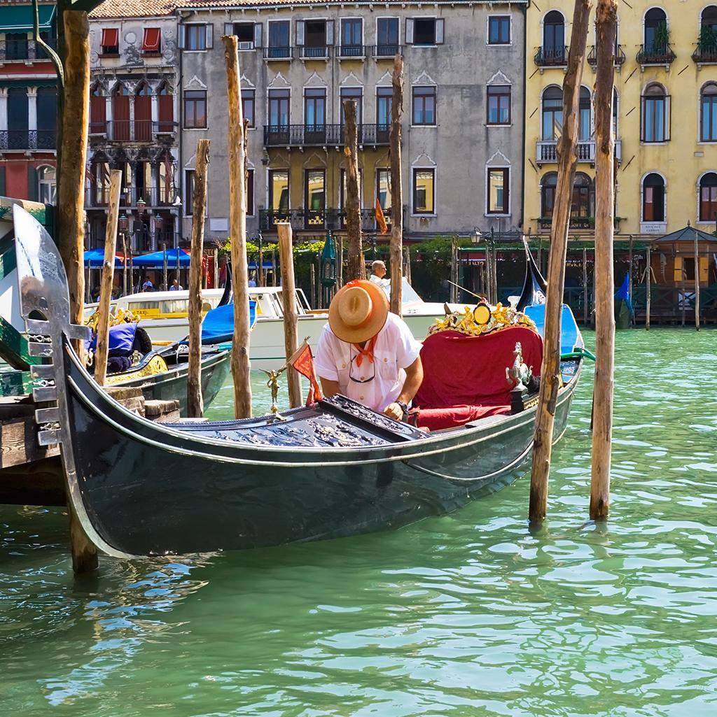Let Venice romance you on a gondola ride