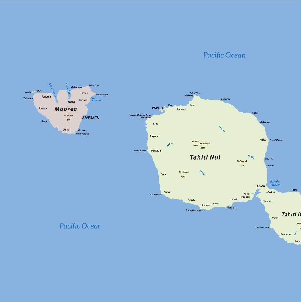 Moorea vacations map