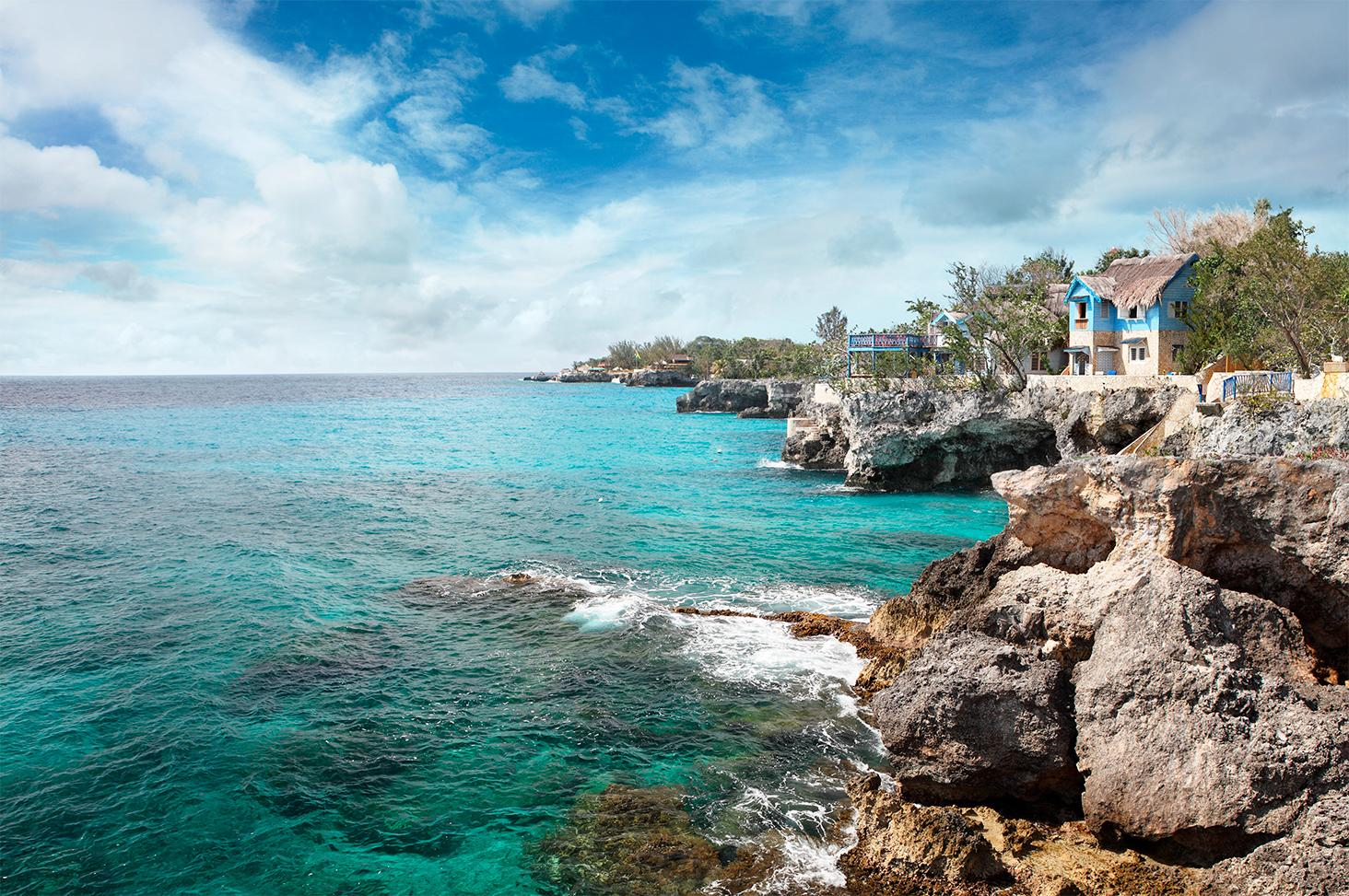 Coastline of Negril Jamaica