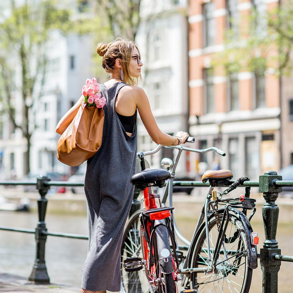 Cycling in Amsterdam - one of the best things to do on a Netherlands vacation package