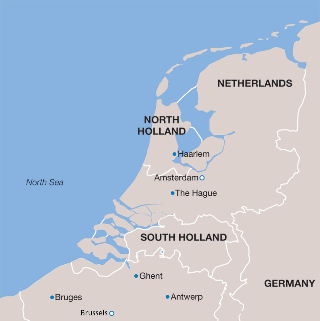 Netherlands vacation map