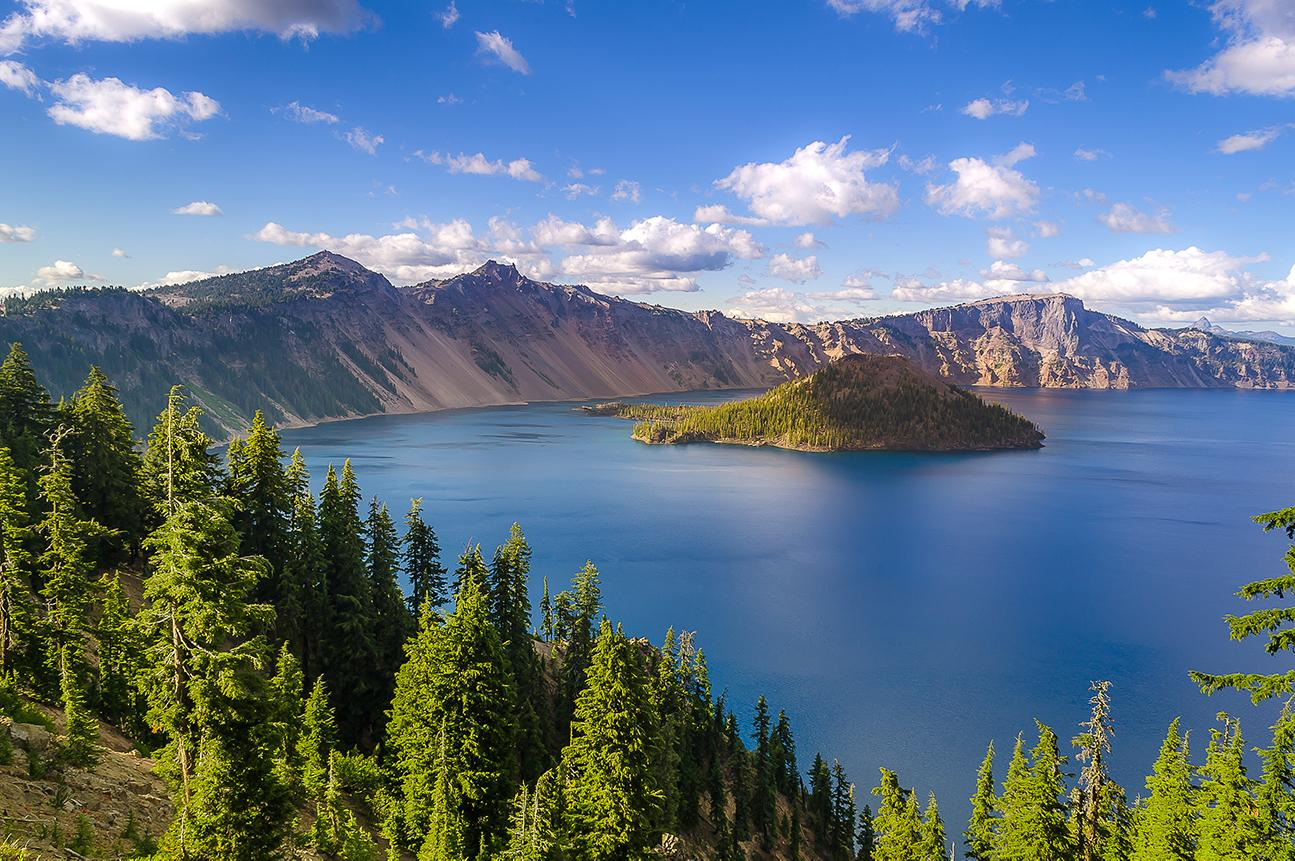 Views of Crater Lake in Oregon