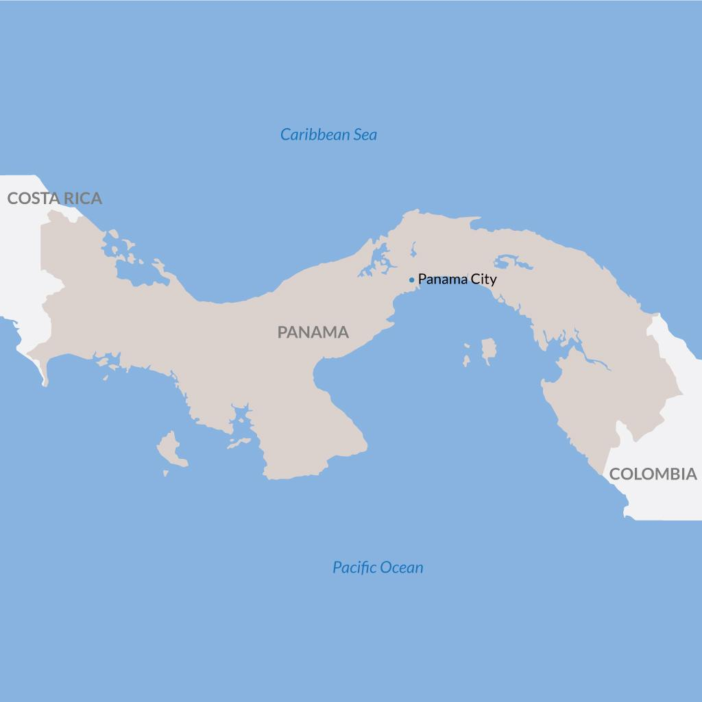 Panama City vacations map