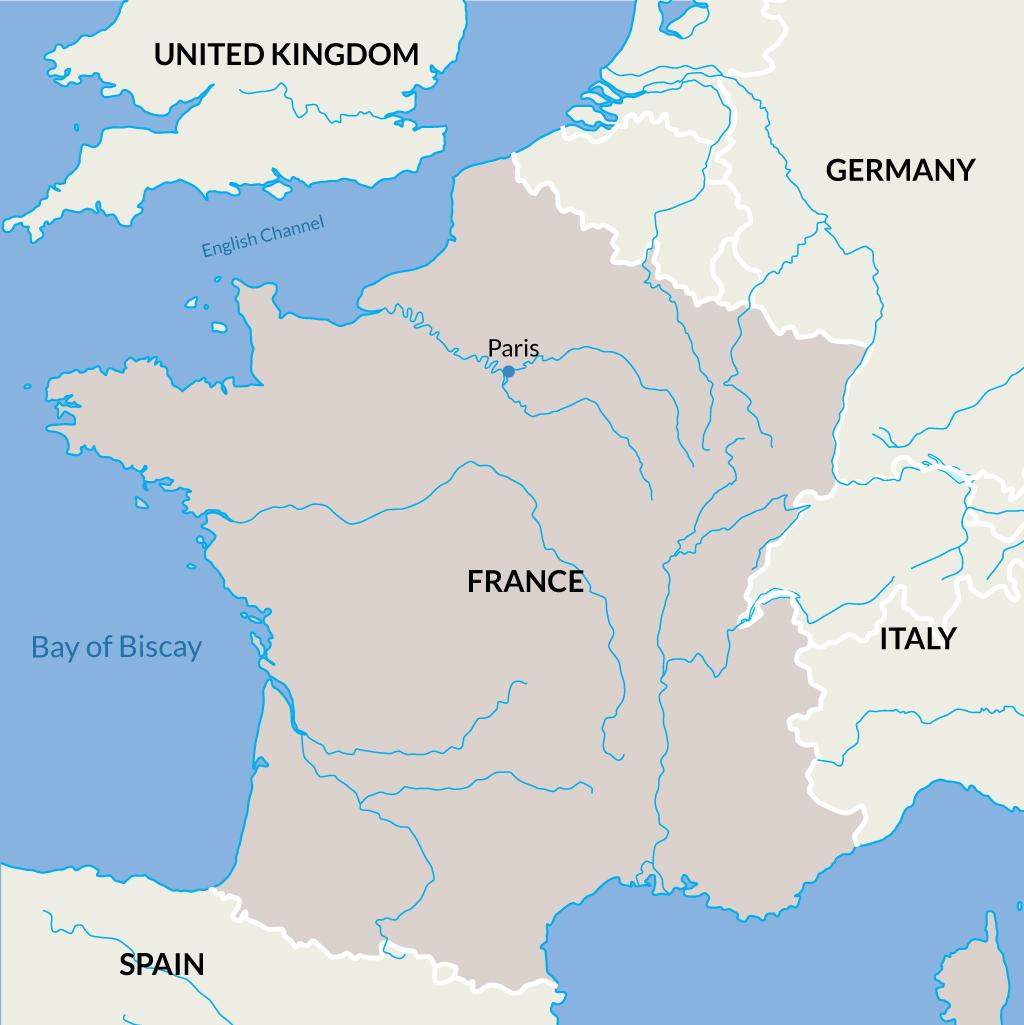 Paris vacations map